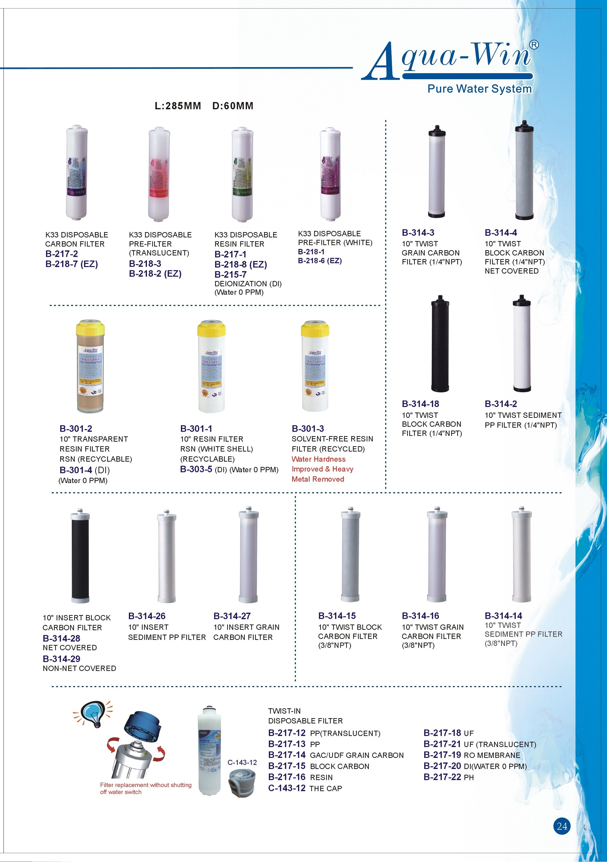 Water Filter Manufacturer Cartridge Filters Supplier