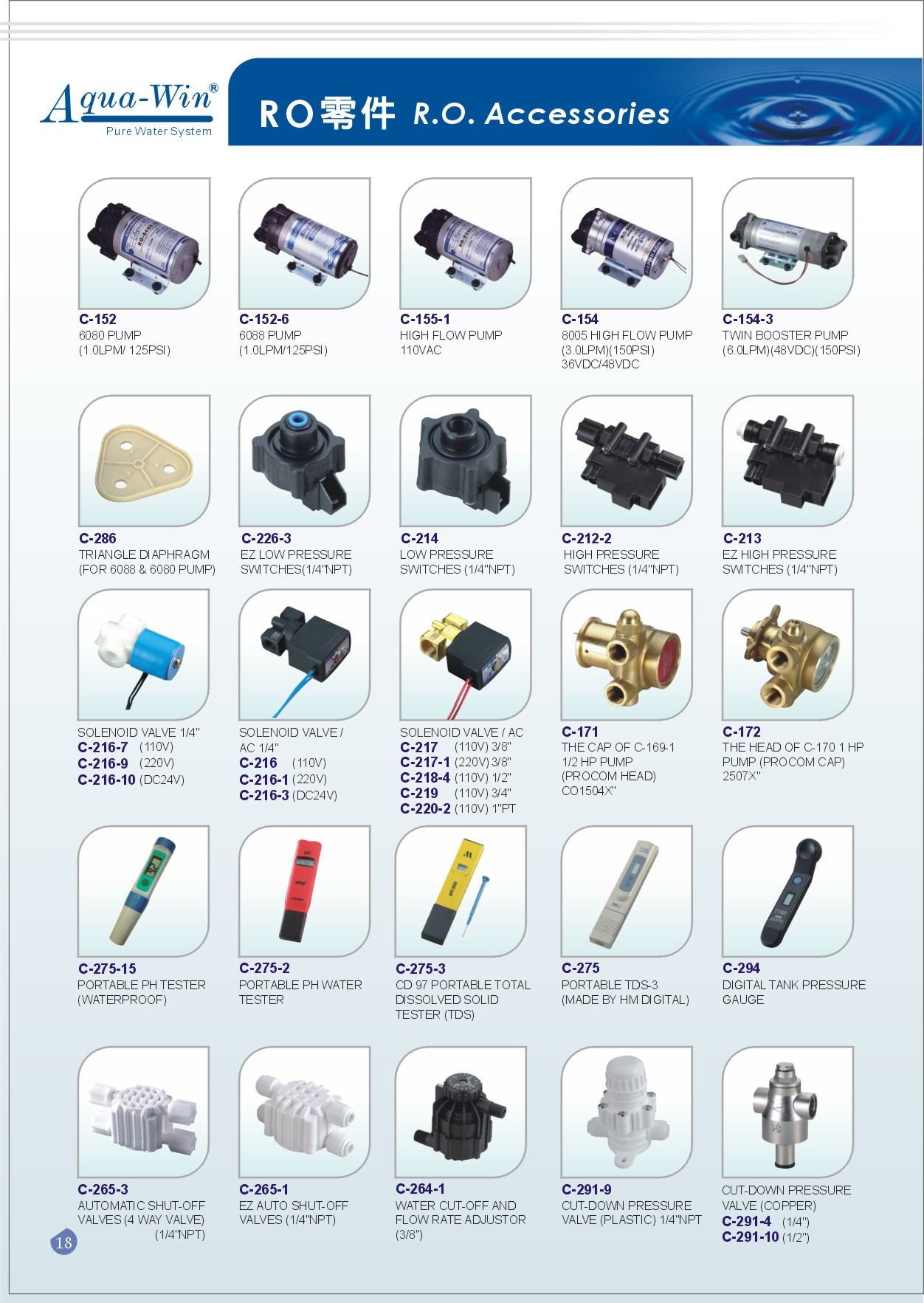 RO Accessories, RO System Parts, Reverse Osmosis Accessories